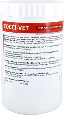 Lęgi i odchów młodych - COCCI VET (stop biegunka i robaki) 500g (1)